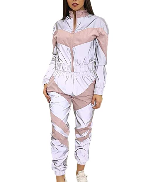 Jogger Reflectante de la Mujer Que empalma Tops + Pantalones ...