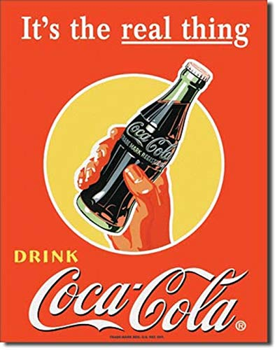 Drink COCA COLA It's The Real Thing Diner Beach 12.5