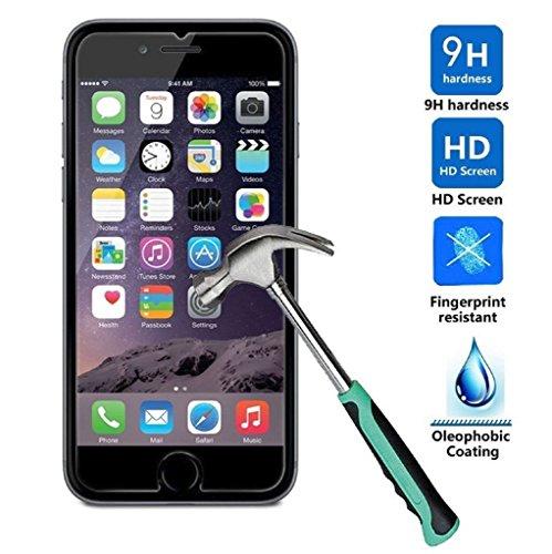 iPhone 7 Schutzfolie, Acelive 3D Touch kompatibel Gehärtetem Glas Panzerglas Displayschutzfolie Folie für iPhone 7(bewusst kleiner als das Display, da dieses gewölbt ist)