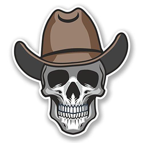 - 2 x Cowboy Skull Vinyl Stickers