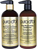 #3: PURA D'OR Gold Label Anti-Thinning Deep Moisturizing Therapy Shampoo & Conditioner Set, Clinically Tested Effective Solution, Infused with Organic & Natural Ingredients for All Hair Types, Men & Women