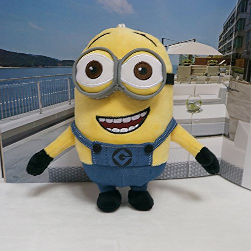 [Huge 3D two Eyes 2 Plush Minions Doll Soft Toy30cm] (Domo Costume For Dogs)