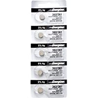5 x Energizer 362 Watch Batteries, 1.55V, equivalent SR721SW, 361