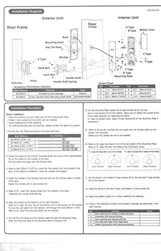 New Samsung Shs H505 Digital Door Lock Us English Model