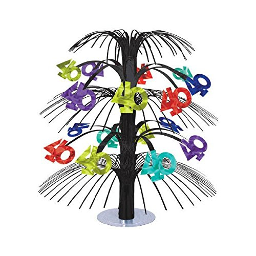 The Party Continuous 40th Birthday Party Cascade Table Centerpiece Decoration, Multi , 18