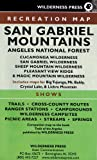 img - for San Gabriel Mountains - Angeles National Forest MAP book / textbook / text book