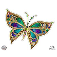 Beautiful Colorful Butterfly Tiled Design - Vinyl Sticker Waterproof Decal