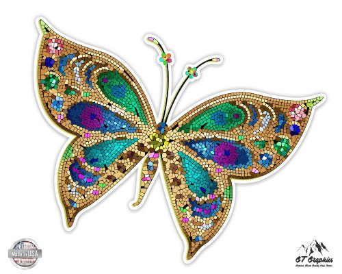 Beautiful Colorful Butterfly Tiled Design - 3