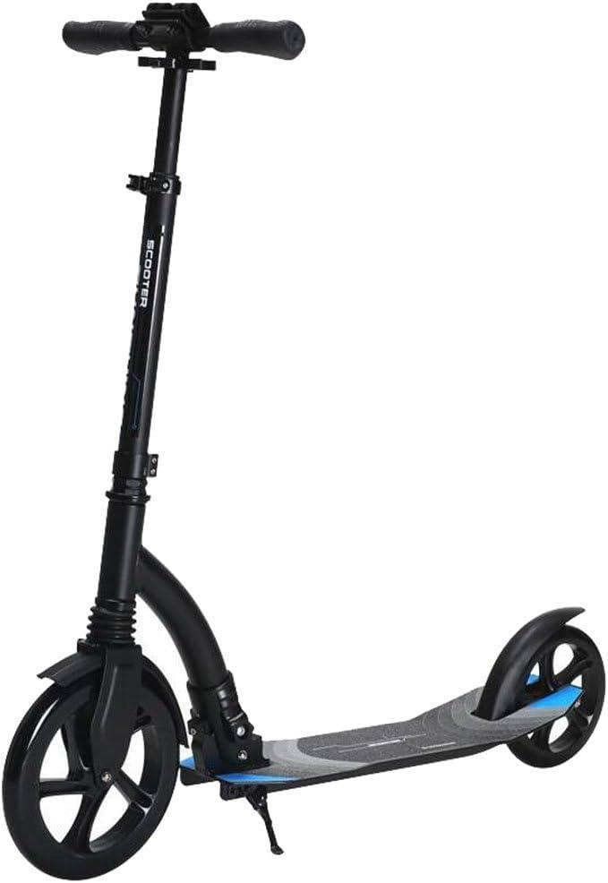 シティスクーター大人用ペダルスクーター二輪アルミ合金二輪折りたたみハンドブレーキ二輪 (色 : ブラック) ブラック