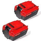 jolege PCC685L 20V Max 5.0AH Lithium Ion Battery Replacement for Porter Cable PCC685L PCC680L PCC682L PCC600 PCC640 PCCK602L2 20-Volt Porter Cable Cordless Power Tools (2 Pack)