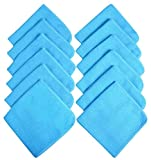 SINLAND Microfiber Waffle Weave Kitchen Dish Cloths Drying Cleaning Cloth 13inchx13inch 12 Pack Blue