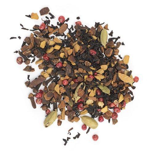 Flowered Tea, Spicy Sweet Aroma Chai Latte Herbal Loose Leaf Flowering Tea
