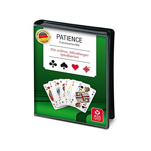 ASS Altenburger Cartes Patience, 2x 55cartes au format 43,5x 67,5MM + Règles du jeu, dans un étui Film
