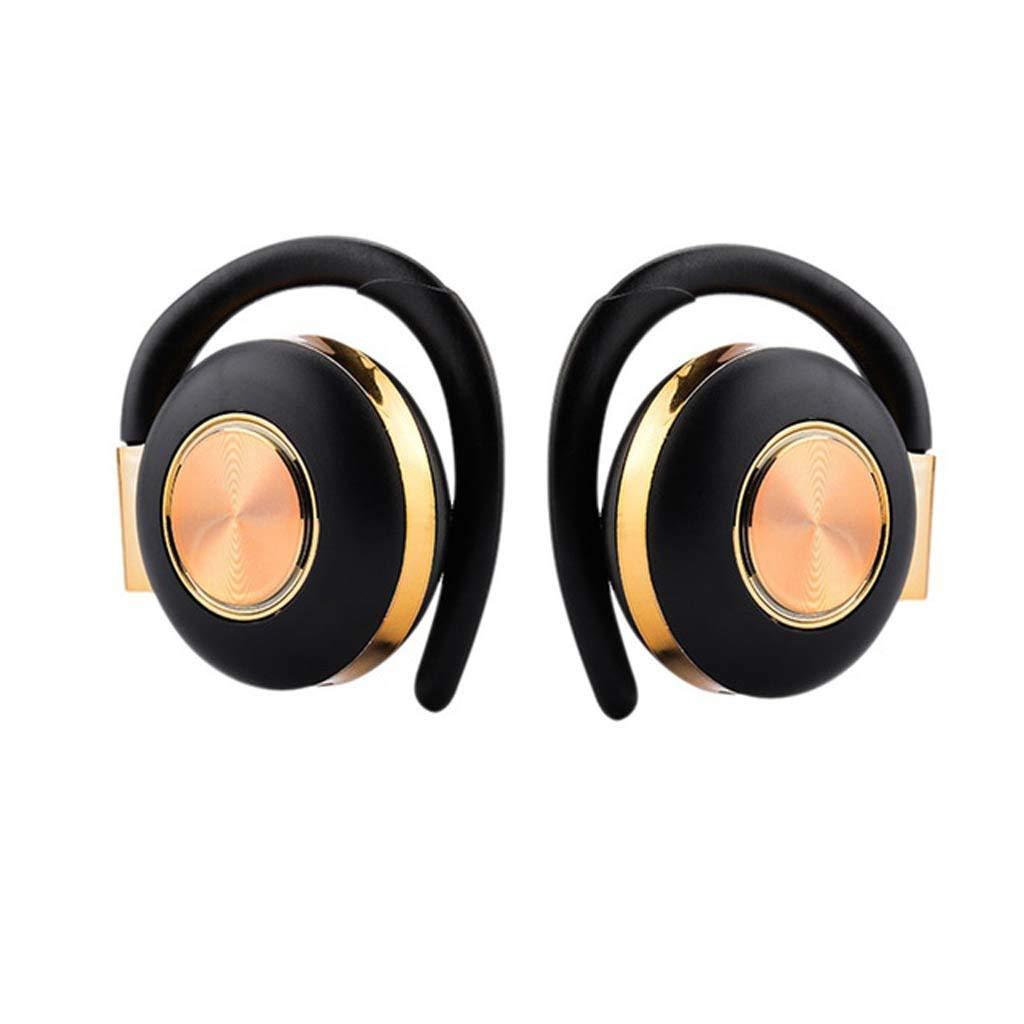 Aawqe セールスブルートゥース 5.0 ヘッドホン ワイヤレス ヘッドホン スポーツ 音楽 ヘッドフォン IPX4 汗 ヘッドホン 耳栓付き デュアルマイク ゴールド A-126653  ゴールド B07QFK9T9N