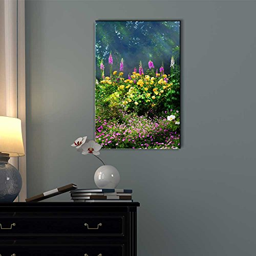 Beautiful Colorful Flowers in The Summer Morning Wall Decor