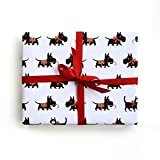 Sea Urchin Studio Scotty Dog Gift Wrap, Scotty wrapping paper, gift wrap, dog gift wrap, Scotty Dog wrapping paper