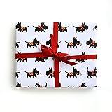 Sea Urchin Studio Scotty Dog Gift Wrap, Scotty wrapping paper, gift wrap, dog gift wrap, Scotty Dog wrapping paper