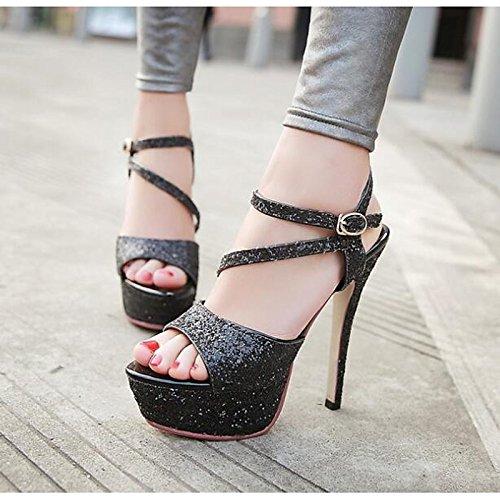 sandalias Zapatos talón White Comfort PU bomba mujer Primavera Verano Stiletto ZHZNVX Oro NEGRO de BLANCO de PLATEADO básica Informal SdzPUxq