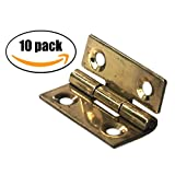 10x Hinges Solid Brass 1