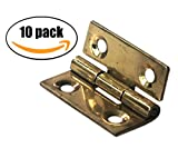 10x Hinges Solid Brass 1'' For Small Cabinet Furniture by Wynn Works