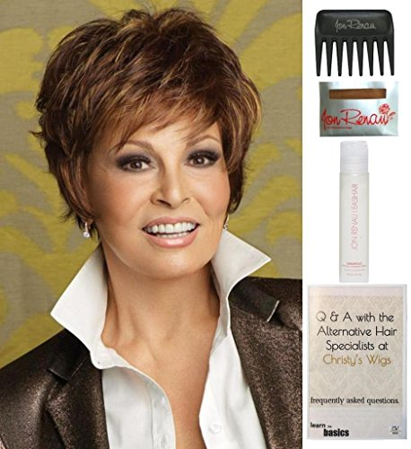 Bundle - 5 items: Sparkle by Raquel Welch Wig, 15 Page Christy's Wigs Q & A Booklet, Wig Shampoo, Wig Cap & Wide Tooth Comb (Color Selected: R9F26) by Raquel Welch & Christy's Wigs