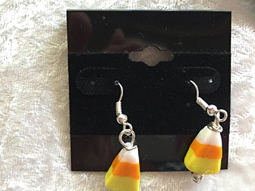 Candy Corn Lampworked Glass Fall Halloween Dangle Earrings for $<!--$7.00-->