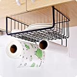SortWise Multi-Purpose Kitchen Utensil Rack with Towel Paper Roll Storage Cupboard Door Hanger Wardrobe Hook Storage Bathroom Organizer