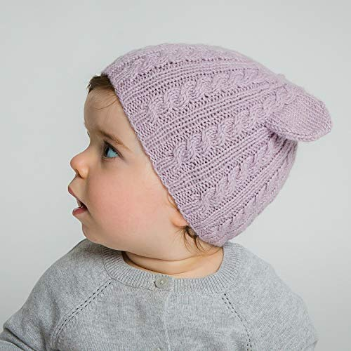 - Hand-Knit 100% Organic Alpaca Wool| Pasco Bear Beanie Hat 6-12 Months (Lavender) by Surhilo |Soft, Quality, Hypoallergenic |The Perfect & Eco-Friendly Way to Keep Your Baby &Toddler Cozy & Comfortable