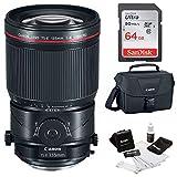 Canon TS-E 135mm f/4L Macro Tilt-Shift Lens + 64GB Memory Card + Canon 100ES Camera Gadget Bag + Cleaning Kit