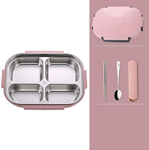 Stainless Steel Thermal Insulated Lunch Box Bento Food Container For Kids Women