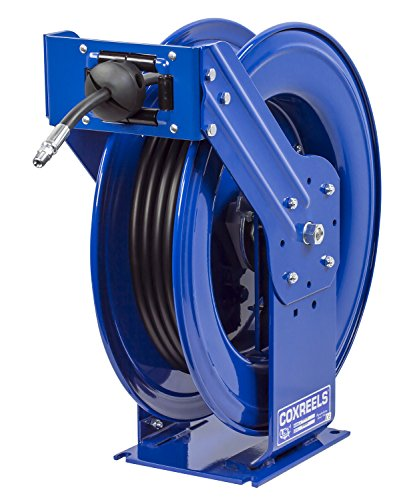 Coxreels THP-N-375 Supreme Duty Spring Rewind Hose Reel for grease/hydraulic oil: 3/8' I.D., 75' hose, 4000 PSI