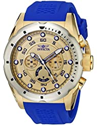 Invicta Mens 20307 Speedway Stainless Steel Watch With Blue PU Band