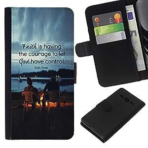 All Phone Most Case / Oferta Especial Cáscara Funda de cuero Monedero Cubierta de proteccion Caso / Wallet Case for Samsung Galaxy A3 // Friends God Quote Christian