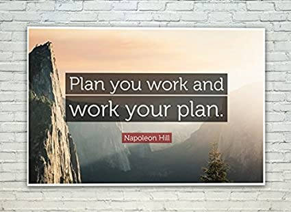Posterskart Plan Your Work Work Your Plan Motivational Quote
