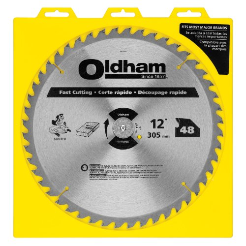 Oldham 12048TP All Purpose 12-Inch 48 Tooth ATB General Purpose Saw Blade with 1-Inch Arbor