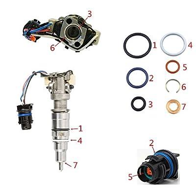 DEF AP0002 G2.8 Injector Seal Kit for Ford Powerstroke 4.5L LCF 2006-2010 6.0L 2003-2010 6.0L Navistar 2002.5-2010 3C3Z9229AA CM5055 1843682C91 (Set of 8): Automotive