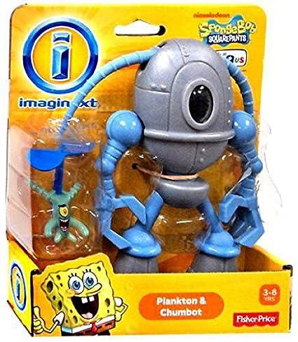 Imaginext, Spongebob Squarepants, Plankton and Chumbot Exclusive Action  Figures