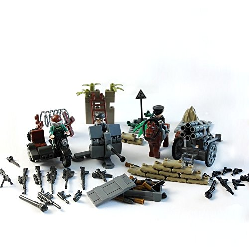 German Army Military Weapons Set Morden Warface Accessories Compatible Major Brands, Minifigure accessories Building Blocks (German Anti Tank Weapon)