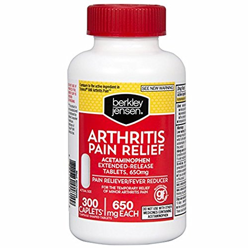 Relief Caplets Extended (Berkley Jensen 650mg Arthritis Pain Relief Extended-Release Tablets, 300 ct.)