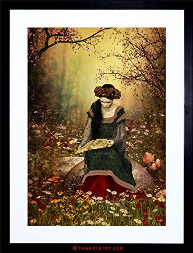 - The Art Stop Painting Fantasy Woman Reading Forest Fairytale Framed Print F12X8003