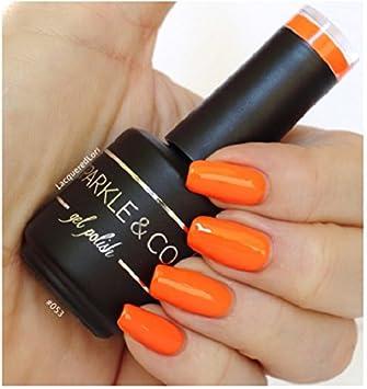 Amazon.com : Sparkle & Co. Gel Color 053 Solid Bright Orange Soak ...