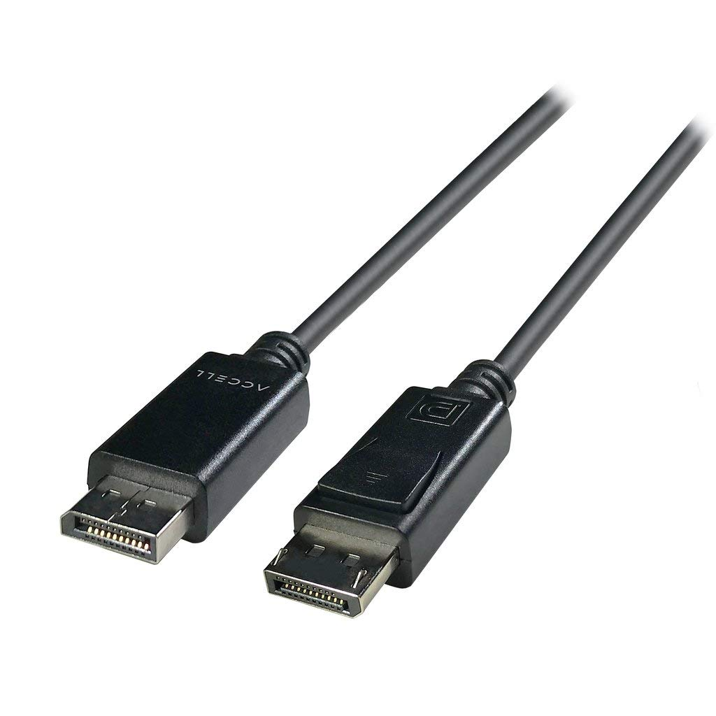 Accell DP to DP 1.4 - VESA-Certified DisplayPort 1.4 Cable - 6 Feet, Hbr3, 8K @60Hz, 4K UHD @240Hz by Accell