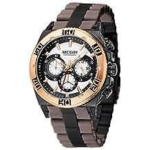 Megir Men Silicone Fashion Luxury Military Quartz Wrist Watch Analog Display