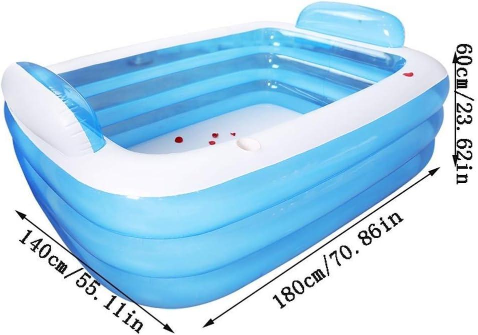 PROMISE-YZ Bañera hinchable Baño para adultos Barril Plegable Baño ...