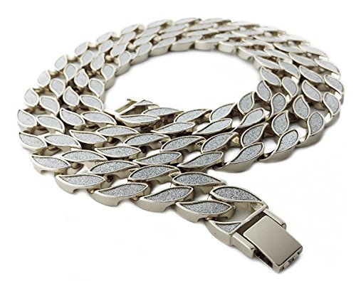 """Iced Out Miami Cuban Link Chain (Silver 30"""")"""