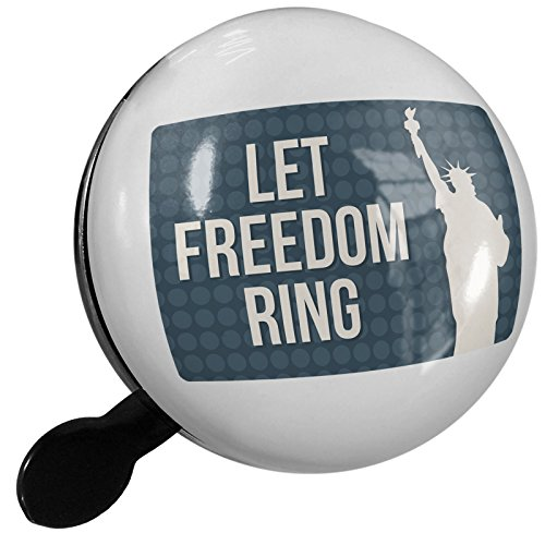 Small Bike Bell Let Freedom Ring Fourth of July Lady Liberty - NEONBLOND by NEONBLOND