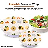 3-Pack Reusable Beeswax Food Wraps – Sustainable