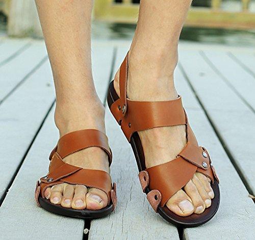 Icegrey - Zapatos de Punta Descubierta Hombre marrón