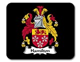 Hamilton Coat of Arms/Hamilton Family Crest Mousepad by Carpe Diem Designs, Made in The U.S.A