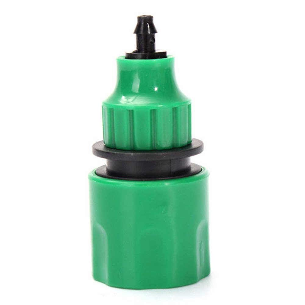 Garden Water Hose Micro Watering Irrigation Adapter Connector Water Hose Quick Connector Water Pipe Adapter Fitting For 4/7mm 8/11mm Micro Hose(green)